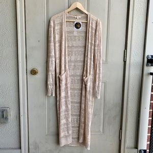 NWT Mystree Pointelle Duster Size Small Cardigan